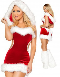 burning-red-strapless-cut-out-christmas-costume-w204040-1
